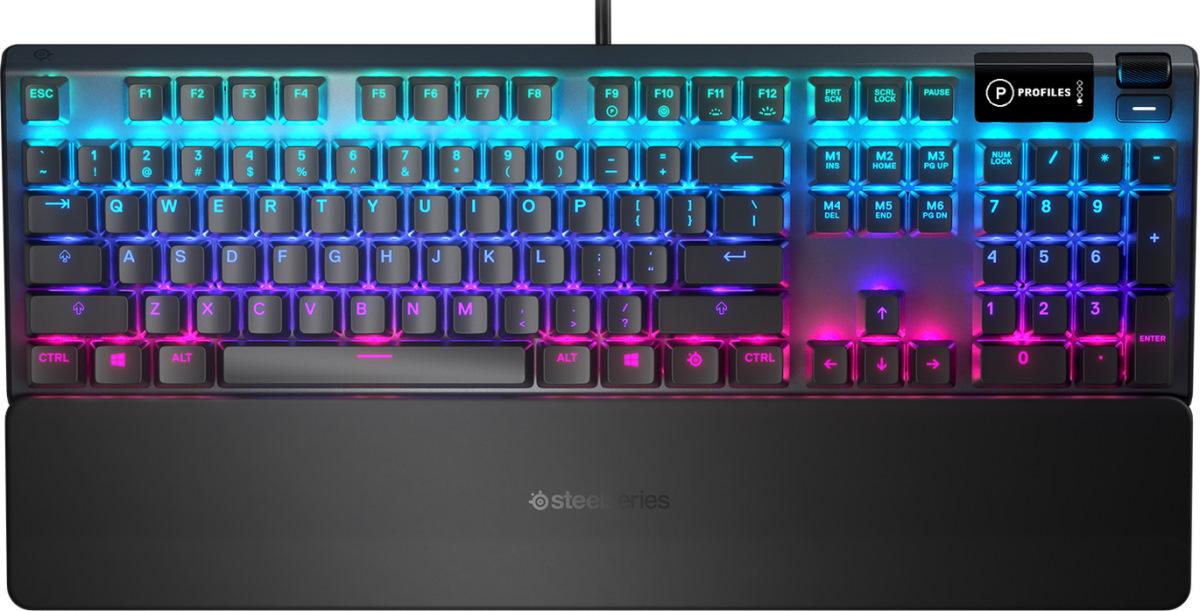 Игровая клавиатура SteelSeries Apex 5, черная